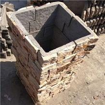 Stackable Column Blocks Culture Stone Glued Pillar Exterior Landscape