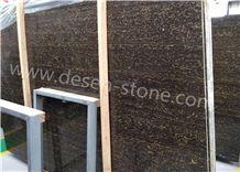Leopardo Black Golden Flower/China Gold&Black Marble Stone Slabs&Tiles
