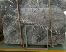 Mely Grey/Cloudy Gray/Milan Grey Marble Stone Slabs&Tiles Bookmatching