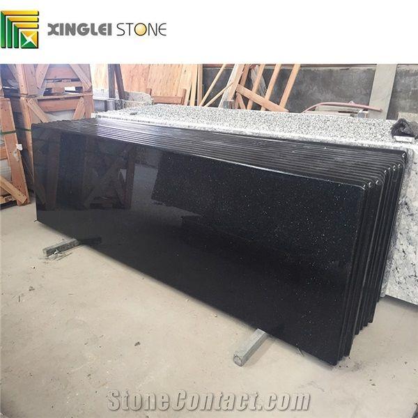 Black Galaxy Granite Countertops Kitchen Tops Black Granite Table Tops From China Stonecontact Com
