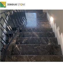 Dark Emperador Marble, Galaxy Emperador Stairs & Steps