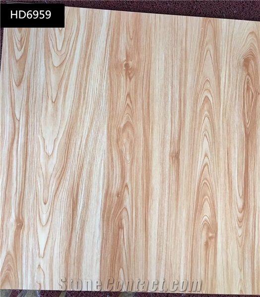 Wooden Grain Porcelain Floor Tiles Light Color From China