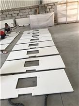 Quartz Kitchen Countertop,White Quartz Kitchen Top,Quartz Bar Top