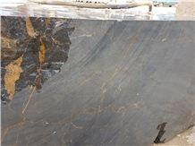 Golden Black Marble Block, Iran Black Marble