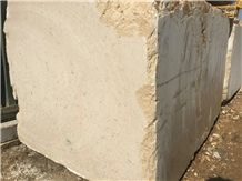 Peacock Feather Beige Marble Block, Iran Beige Marble