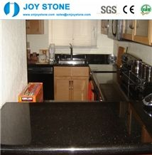 Hot Sale Cheap Perfab Polish Black Galaxy Granite Ktichen Countertop