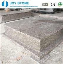 Popular Chinese G664 Pink Poland Gravestone Granite Monument