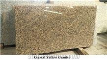 Crystal Yellow Granite Slabs & Tiles, India Yellow Granite