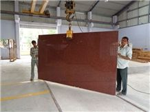 New Imperial Red Granite / Red Ruby Granite Slabs or Tiles Form India