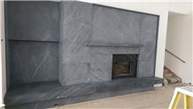 Quicksilver Schist Fireplace Surround with Natural Cleft Mantle