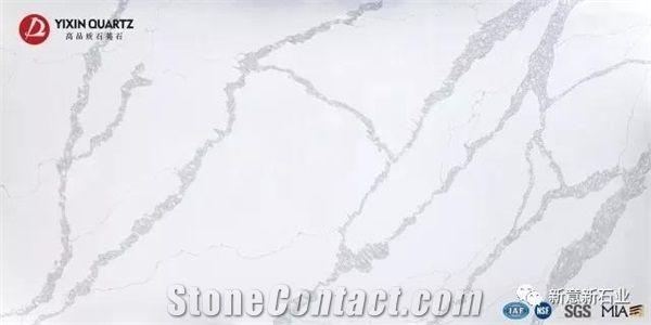 Calacatta Rivers Quartz Stone Slab