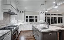 Brazil White Capo Blanco Granite Kitchen Countertop