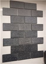 Black Basalt ,Bushhammered,Pitched, Combed
