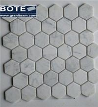 Bianco Carrara White Marble Mosaic Hexagon Mosaic