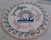 Marble Mosaic Floor Medallions Round Decorative Medallions