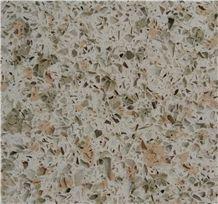 Desert Oasts/China Green Quartz Stone Slab