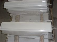 China Pure Crystal White Marble Border Lines,Pencil Wall Molding Panel Tile
