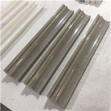 China Marble Bullnose Molding,Border,Skirt,Pencil Liner,Chair Rail