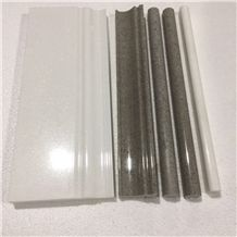 White Marble Molding,Border,Skirting,Pencil Liner,Chair Rails,Grey