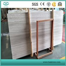 China White Wood Grain, Marble Slib for Flooring