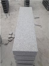 All Surface Flamed Bush Hammered Grey Granite Block Steps to Germany