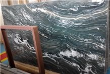 China Polished Finished Green Kowloon Green Marble Slabs for Wall