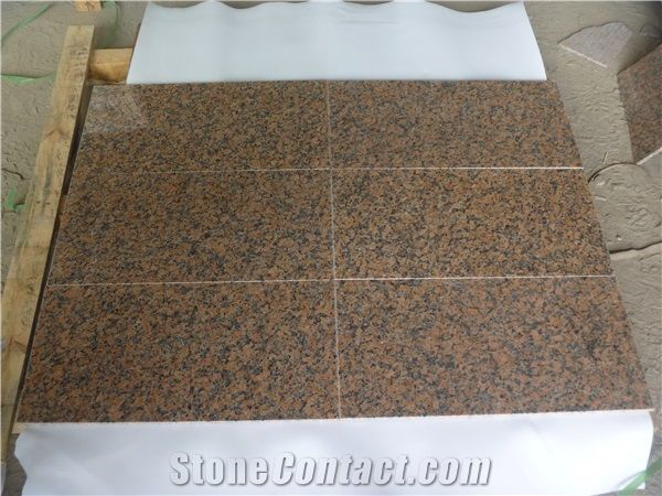 G562 Maple Leaf Red Thin Granite Tiles for Countertops Floor Wall