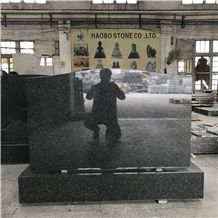 Cheap Price Upright Beida Green Granite Tombstone for Southeast Asia