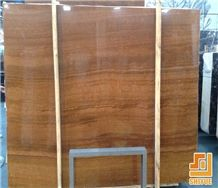 Wooden Grain Yellow Marble Slab with Factory Price Building Materials