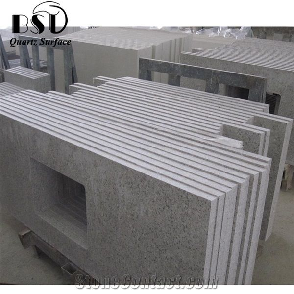 Home U003eu003e Kitchen Countertops U003eu003e Grey Granite Cambinate Quartz Stone  Countertop Cheap