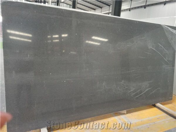 Light Grey Sparkle Quartz Slabs For Countertops China