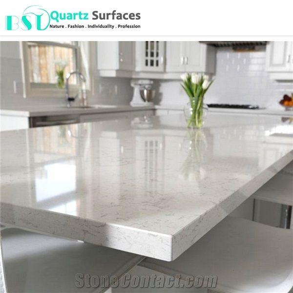 Polishing Carrara Quartz Kitchen Countertops From China