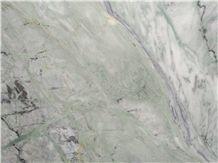 Jade Green Cloud Marble Slabs, Tiles