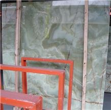 China Natural Stone Background Backlit Wall Panel Slab Green Onyx