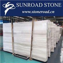 White Wooden Marble Bianco Wood White Serpeggiante Marble Slabs&Tiles