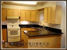 Black Galaxy Kitchen Countertop, Kitchen Design