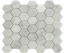Carrara Marble Bathroom Mosaic Hexagon Tiles