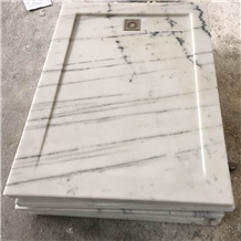 Carrara White Marble Shower Tray