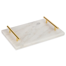 Carrara White Square Marble Trays