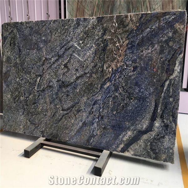 Blue Azul Bahia Brazil Granite Slab