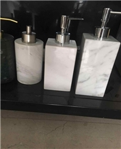 White and Black Marble Soap Dispense Customized