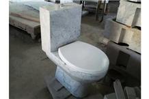 Bianco Carrara White Toilet Sets