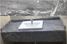 Storm Grey Hotel Commercial Vanity Top with Apron