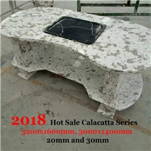 Custom Engineered Quartz Stone Table Top