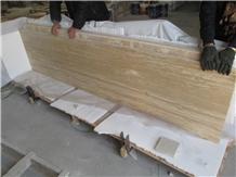 Mahallat Beige Travertine Flooring Tile Slabs Wall