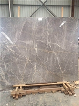 Pearl Gray Crystal Marble Slabs French Pattern