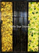 Green Gemstone Backlit Semiprecious Stone Slabs