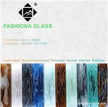 Fashiona Laminated Jade Glass Slab