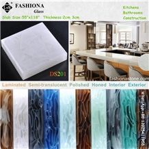 Laminated Glass for Semi-Transparent Countertops