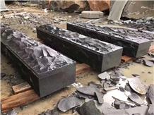 China Pure Black Granite Kerbstone,Curbs Stone
